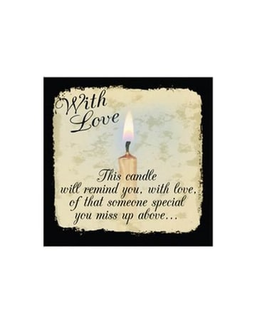 Lighted Flame Of Memory Canvas