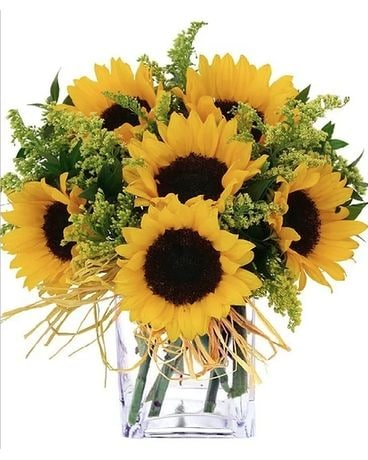 Simple Sunflowers Flower Arrangement