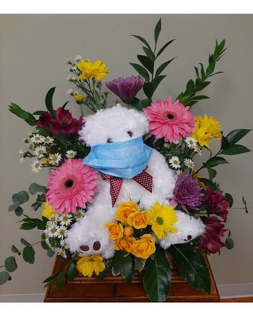 Cheer-Her-Up-Bear Flower Arrangement