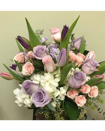 Pleasing Pastels Flower Arrangement