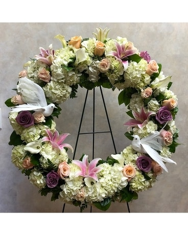 Wreath of Peace Sympathy Arrangement