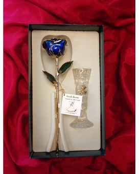 Gold Rose in Blue