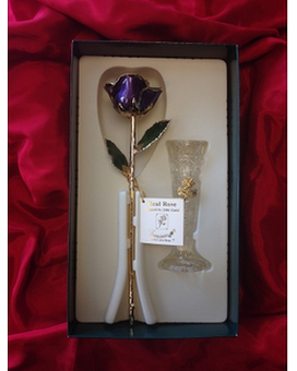Gold Rose in Purple