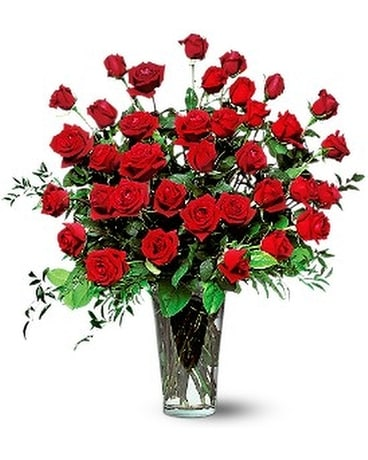 Three Dozen Red Roses Flower Arrangement