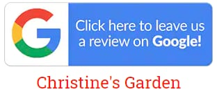 Google review for Christine's Garden