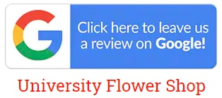 Google review for University Flowers