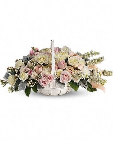 Dawn of Remembrance Basket Flower Arrangement