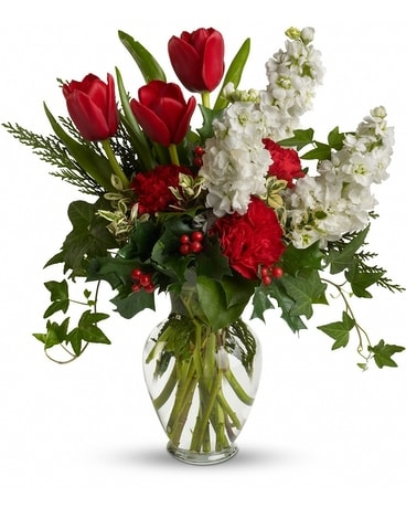 A Holiday Gathering Bouquet Flower Arrangement