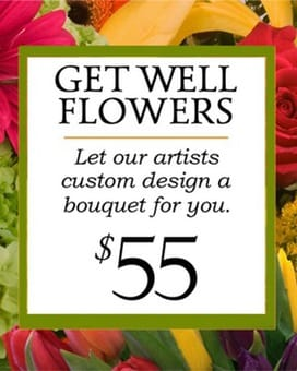 Custom Design Get Well Bouquet $55 Flower Arrangement