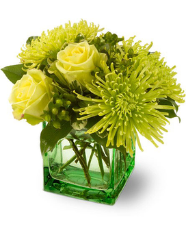 Green Light Bqt Flower Arrangement