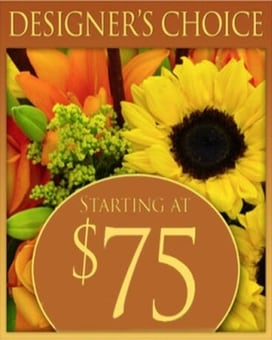 Custom Design Fall Bouquet $75 Flower Arrangement