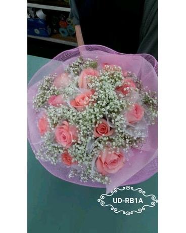 1dozen individual wrapped pink roses round bouquet in artesia ca 1dozen individual wrapped pink roses round bouquet flower arrangement mightylinksfo
