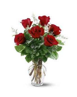 Half Dozen Red Roses and I Love You Balloons Custom product