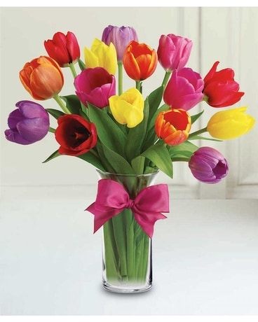 Twisted Tulips Flower Arrangement