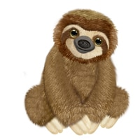Floppy Friend Sloth 7.5