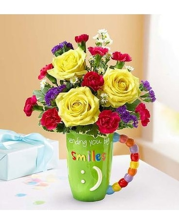 Best Wishes Mug Flower Arrangement