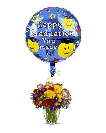 Bright Graduate Flower Arrangement
