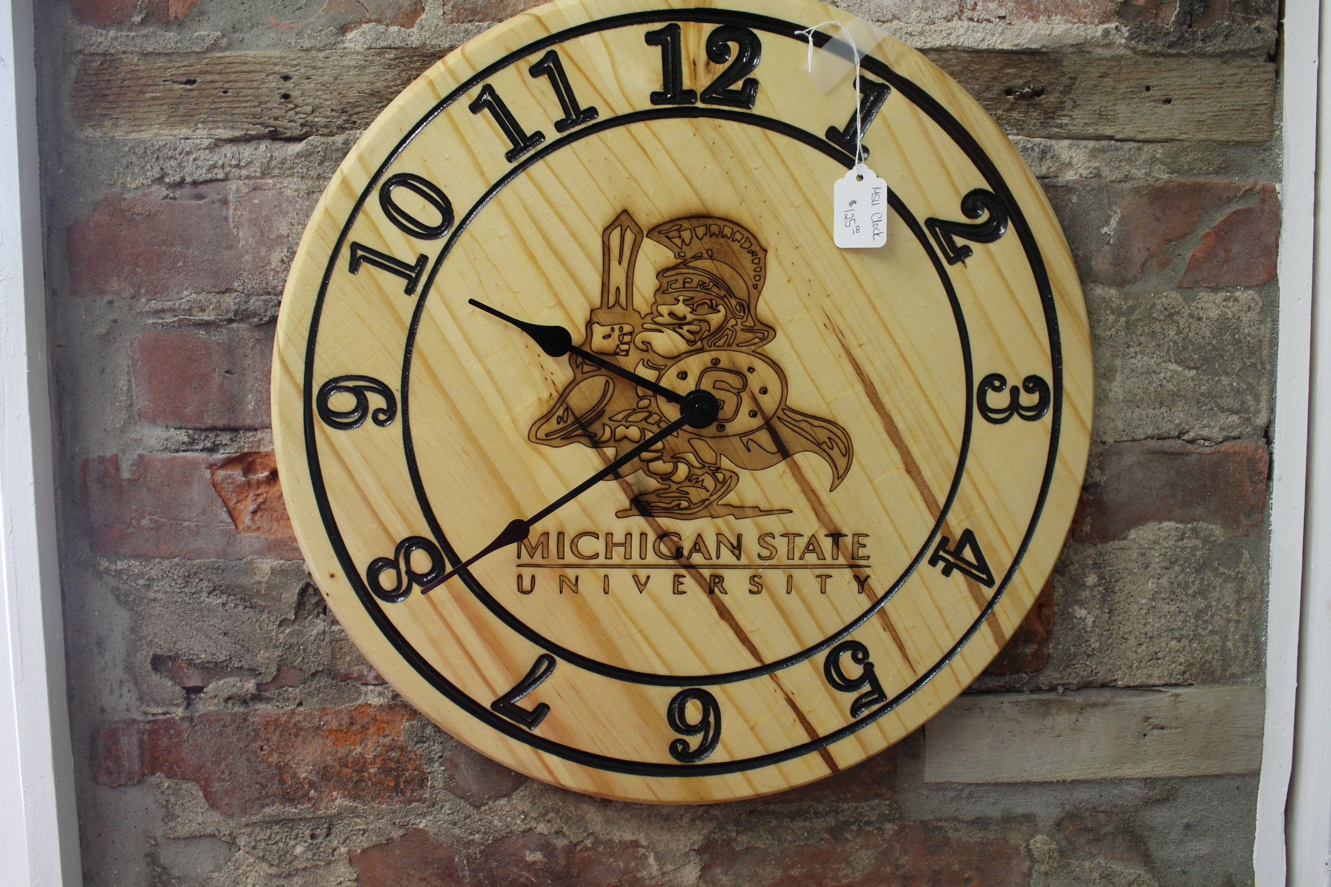 Michigan State Clock Custom product