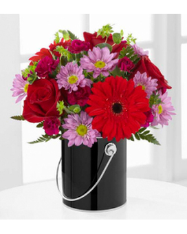 Color Your Night With Intrigue Flower Arrangement