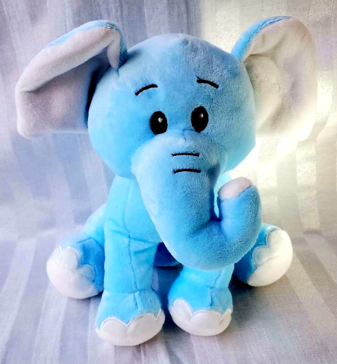 Plush Blue Elephant 11