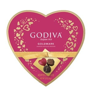 Godiva Heart Assorted Chocolates 3.3 oz. 9 Piece