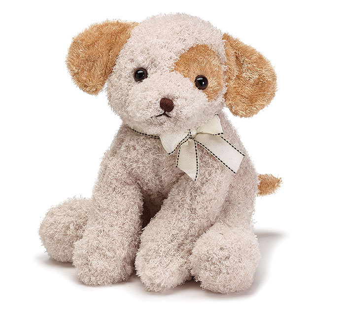 Plush Sitting Tan Puppy