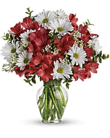 Red and White Love Bouquet Flower Arrangement