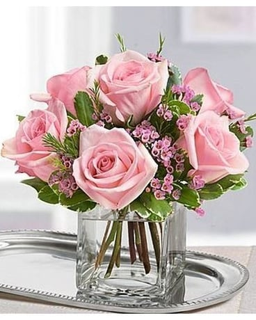 Pretty Pink Pastel Bouquet Flower Arrangement