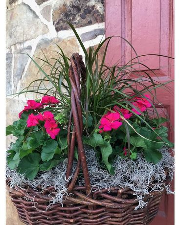 Geranium Basket Custom product