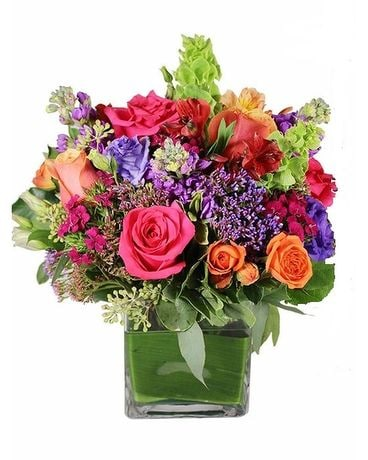 Rainbow Burst Flower Arrangement