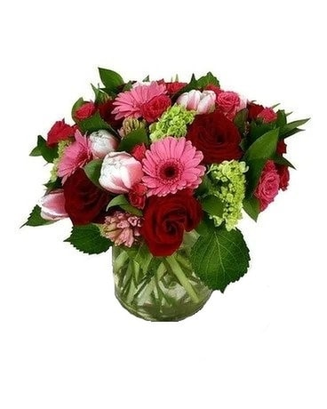 Candy Red Flower Arrangement