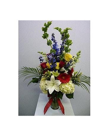 Large garden vase white yellow red blue in albertville al the large garden vase white yellow red blue flower arrangement mightylinksfo