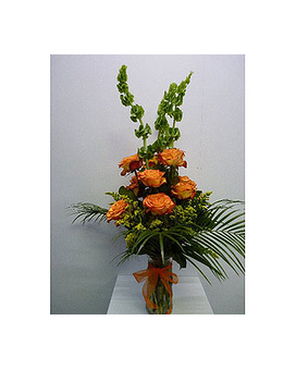 One Dozen Circus Roses Flower Arrangement