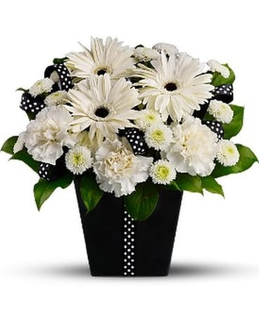 Cravate noire fleur facultatif arrangement floral