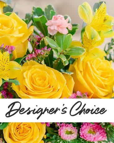 Designers Choice - Yellows and Whites Flower Arrangement