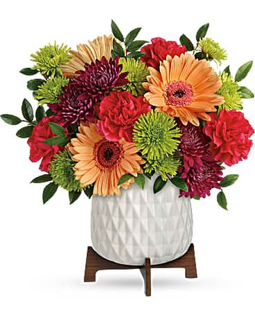 Mid Mod Brights Bouquet Flower Arrangement