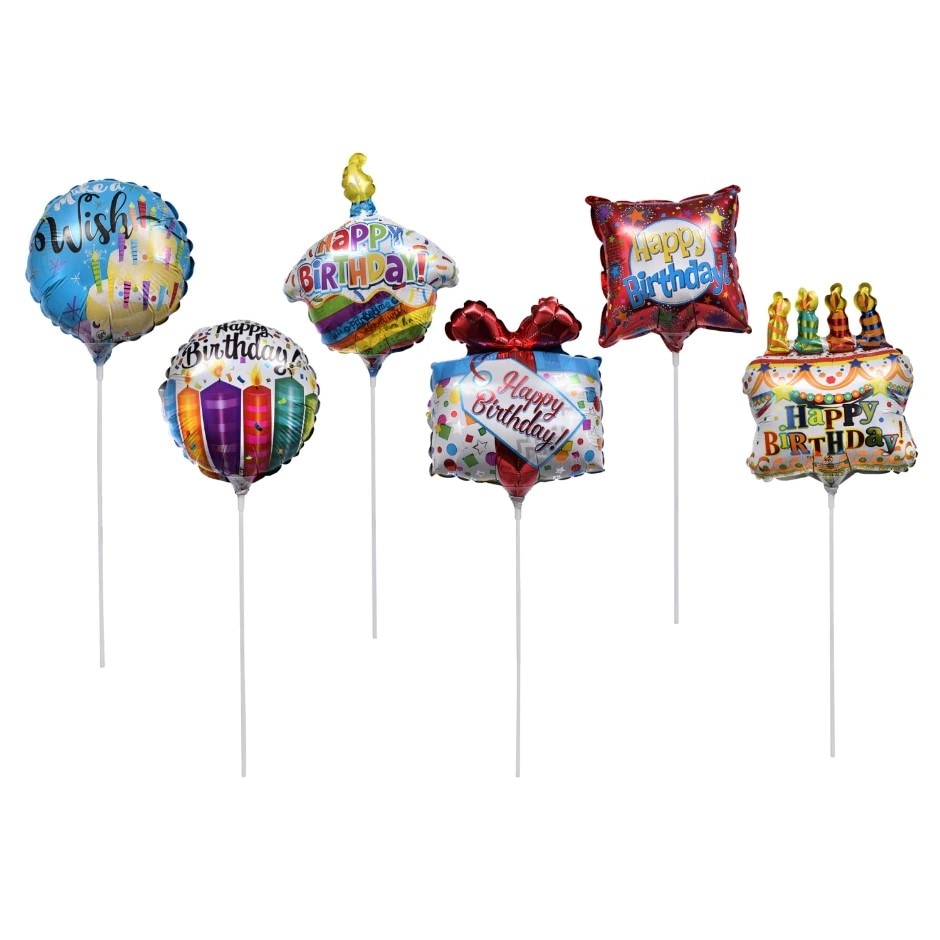 Mini Happy Birthday- Balloon on a Stick