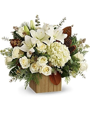 woodland Snow Flower Arrangement