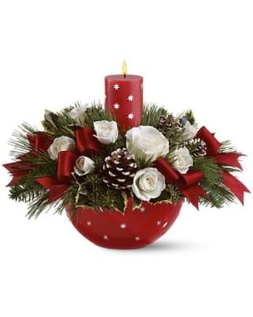 Holiday Star Bowl Bouquet by Teleflora Flower Arrangement