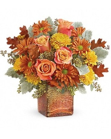 GRATEFUL GOLDEN BOUQUET Flower Arrangement
