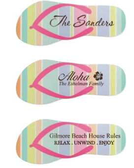 Engraved Flipflop Sign Gifts