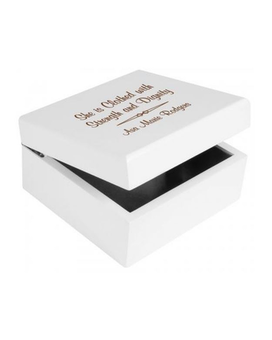 White Jewelry Box (personalized)