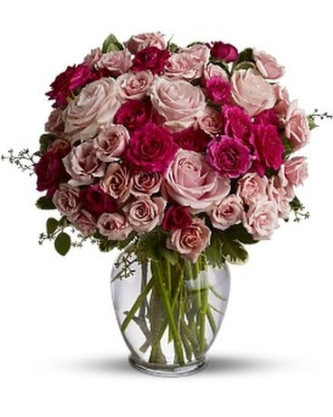Spray Roses are Pink Premium Flower Arrangement