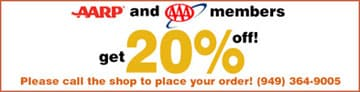 20% off phone orders for AARP and AAA members