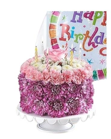 Superb Birthday Wishes Flower Cake In Mission Viejo Ca Conroys Flowers Funny Birthday Cards Online Hetedamsfinfo