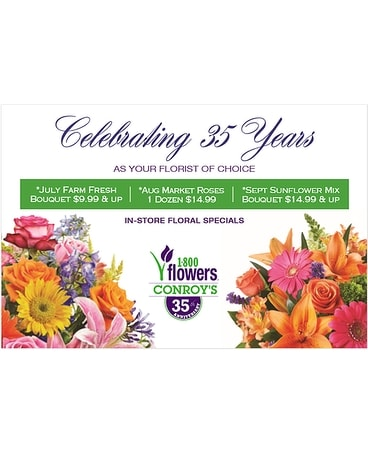 35 Years as Your Florist of Choice Flower Arrangement