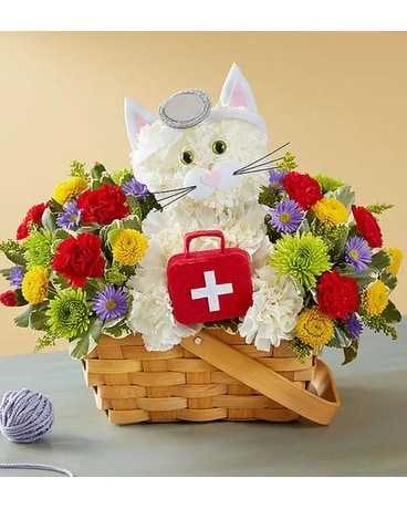Cure-all Kitty Flower Arrangement