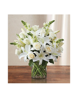 Classic All-White Arrangement -#MF90303L Flower Arrangement