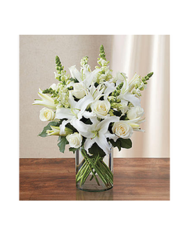 Classic All-White Arrangement -#MF90303M Flower Arrangement