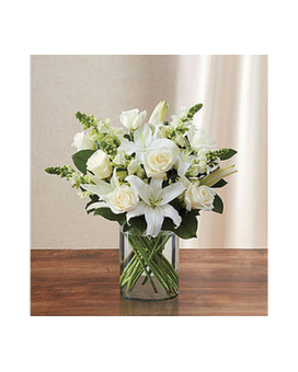 Classic All-White Arrangement -#MF90303S Flower Arrangement